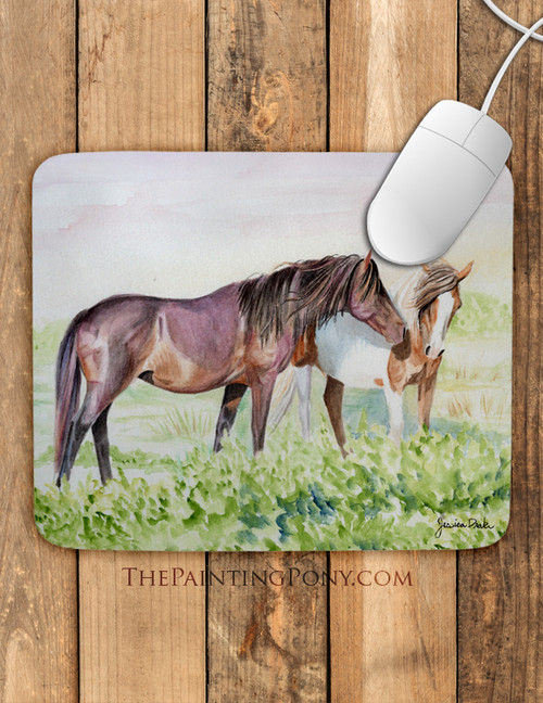 Chincoteague Pony Art Equestrian Mousepad