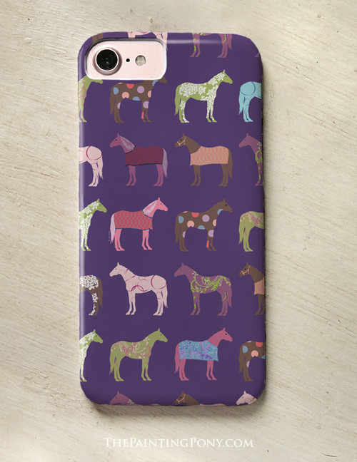 Fun Colorful Horses Phone Case