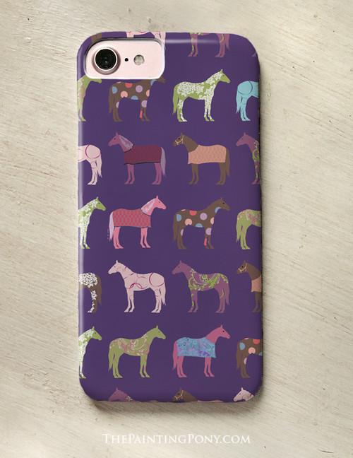 Fun Colorful Horses Phone Case