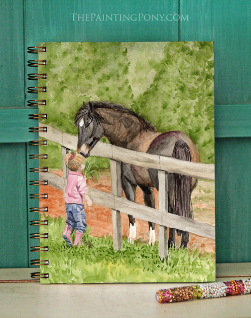 At First Sight Pony Watercolor Art Bullet Journal