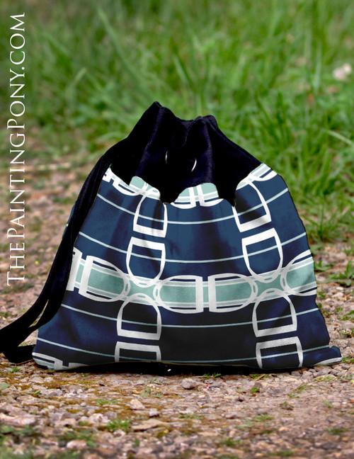 Horse Stirrups Equestrian Pattern Sling Tote Bag
