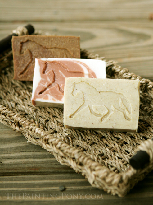 Essential Oil Horse Soap Gift Set