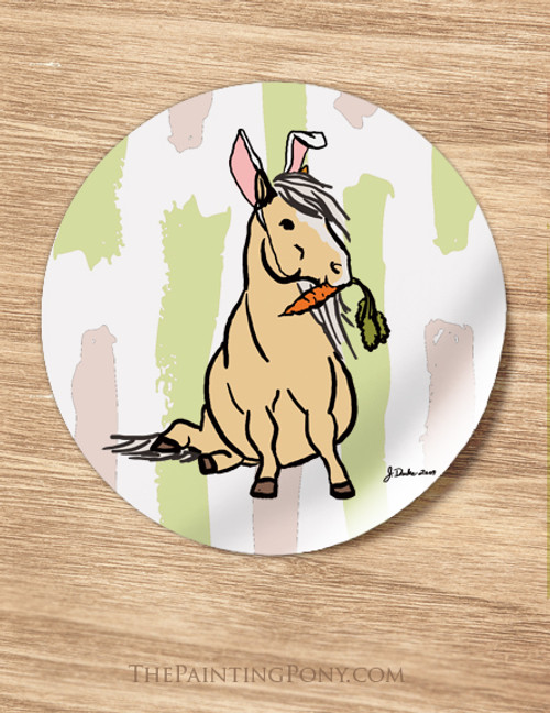 Easter Pony Holiday Stickers (12 count)