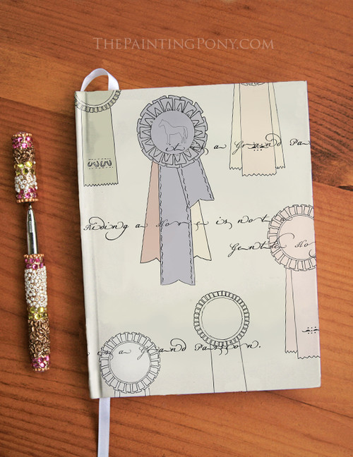 Horse Show Ribbons Designer Hardbound Journal