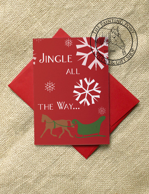 Jingle all the Way Christmas Cards (10 pk)
