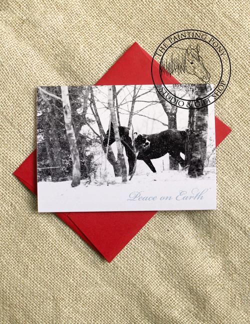 Peace on Earth Horse Christmas Cards (10 pk)