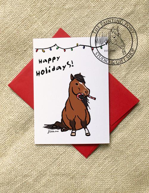 Cute Pony Christmas Cards (10 pk)
