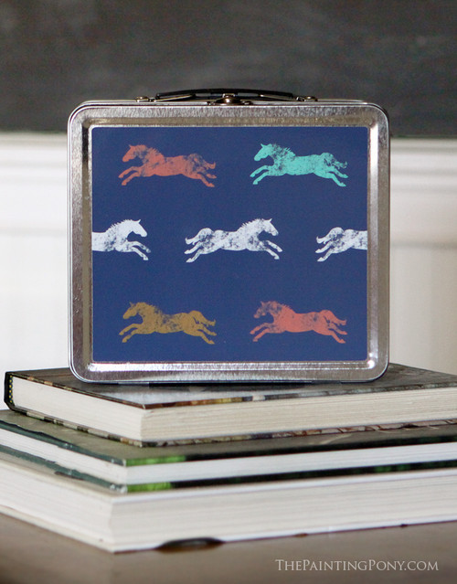 horse lover lunch box