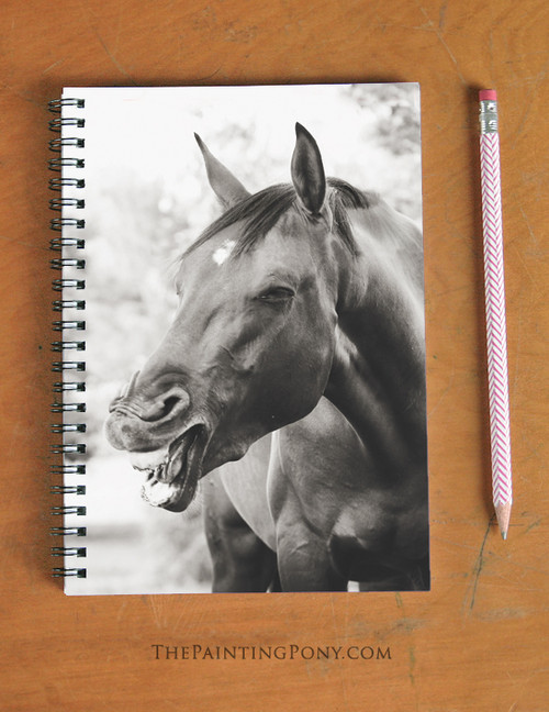 Laughing Horse Spiral Notebook