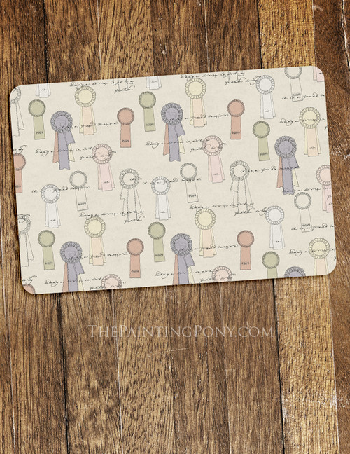Equestrian Themed Pet Food Mat