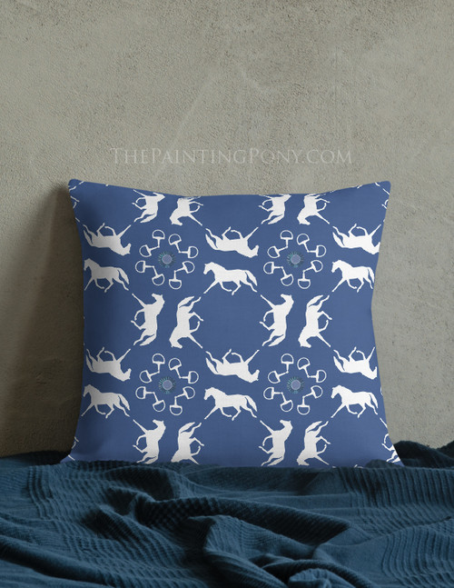 Trotting Horses Equestrian Throw Pillow