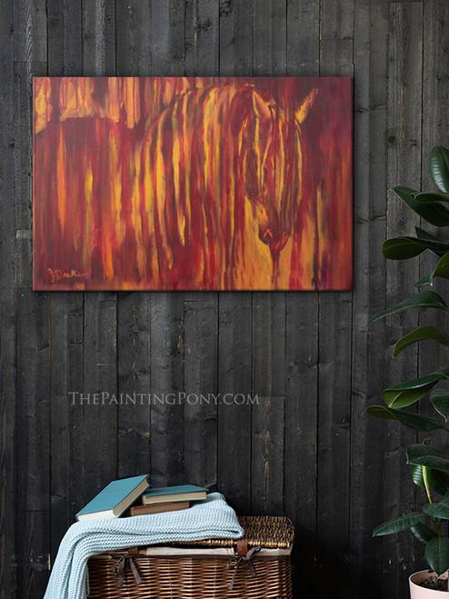 Fire Horse Fine Art Gallery Wrap Canvas Print