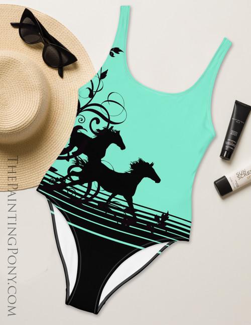 Wild Horses Equestrian Swim Suit