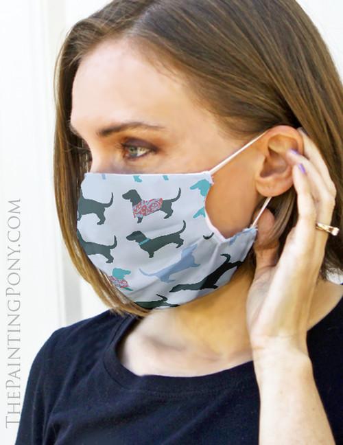 Dachshund Dog Lover Face Mask Coverlet
