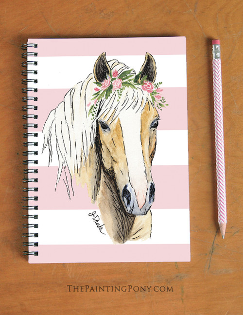 Haflinger Horse Art Spiral Notebook