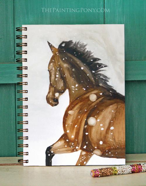 Winter Horse Bullet Journal