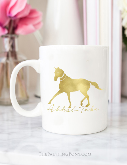 Akhal-Teke Horse Gold Foil Coffee Mug