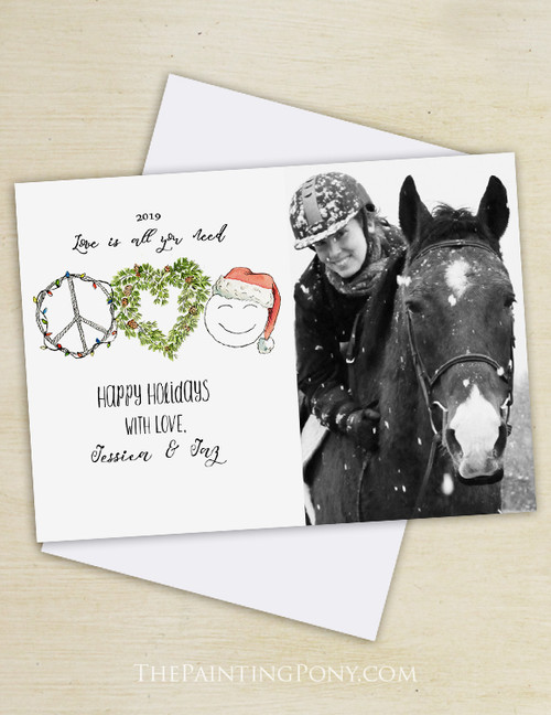 Love Is All You Need Christmas Photo Holiday Cards (10 pk)