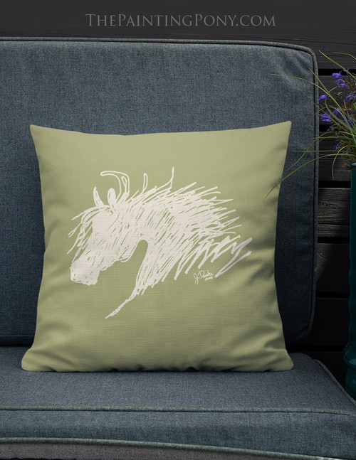 Abstract Horse HeadThrow Pillow