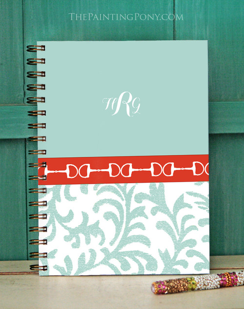 Monogramed Horse Bit Equestrian Bullet Journal