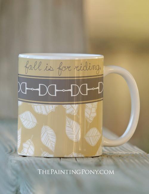 Fall Horse Bits Equestrian Coffee Mug