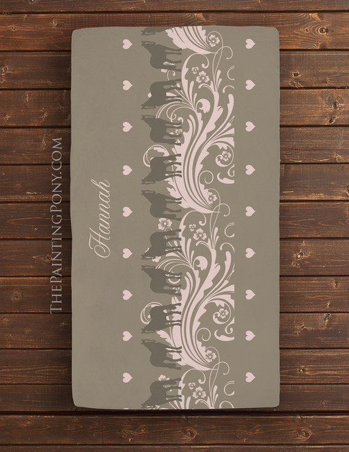 Personalized Country Horse Lover Baby Crib/Changing Pad Sheet