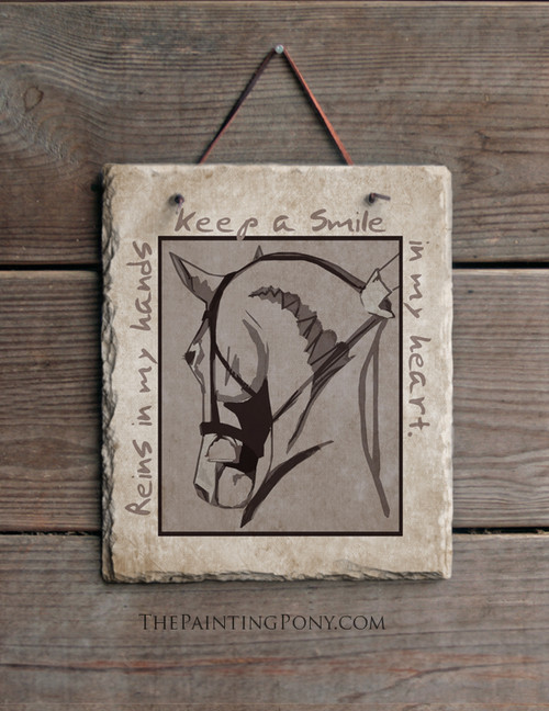Reins in my Hands Equestrian Slate Wall Sign