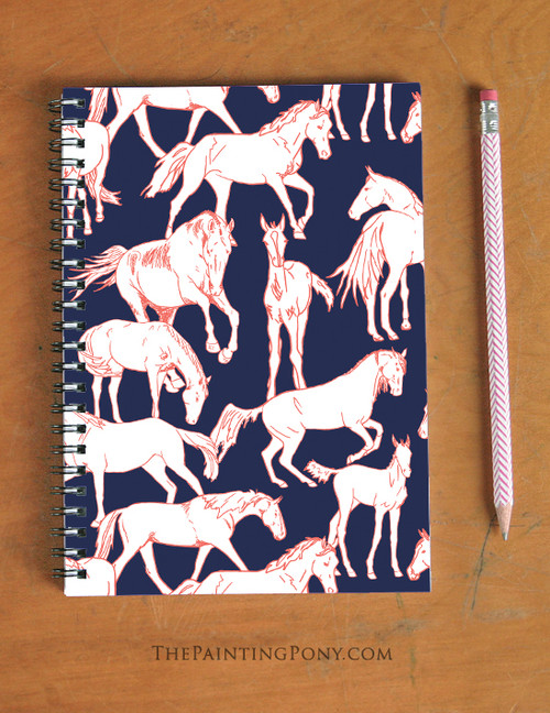 Horses All Over Spiral Notebook