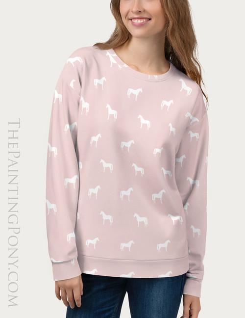 Classic Horse Pattern Equestrian Sweatshirt