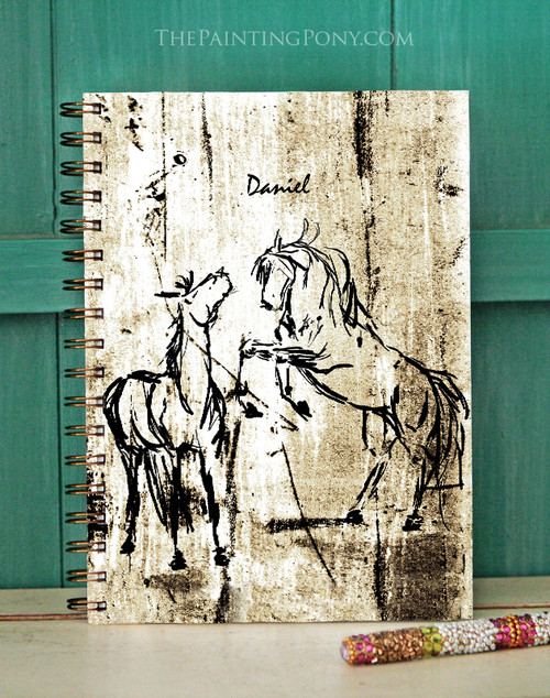 Rustic Rearing Horse Art Bullet Journal