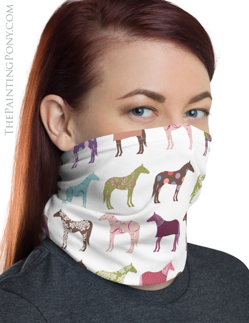 Fun Horse Pattern Neck Gaiter