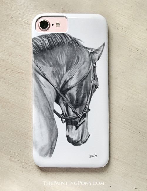 Collected Horse Head Art Equestrian Phone Case