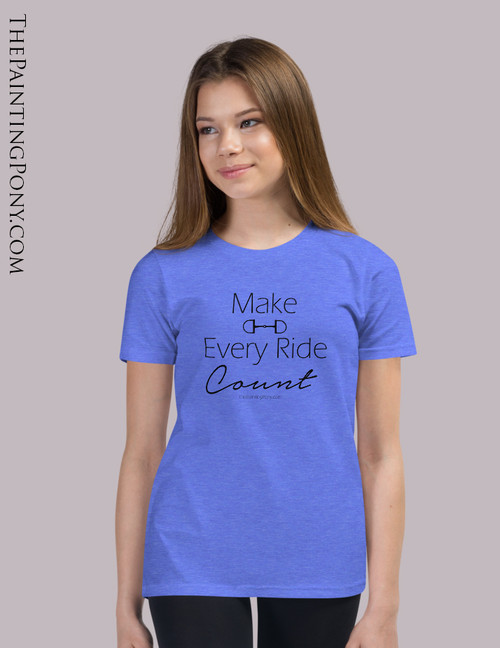 Make Every Ride Count Equestrian Youth T-Shirt