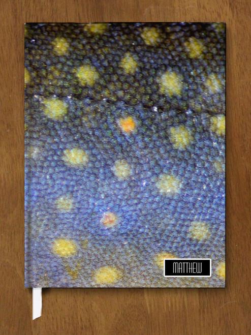 Brook Trout Skin Designer Hardbound Journal