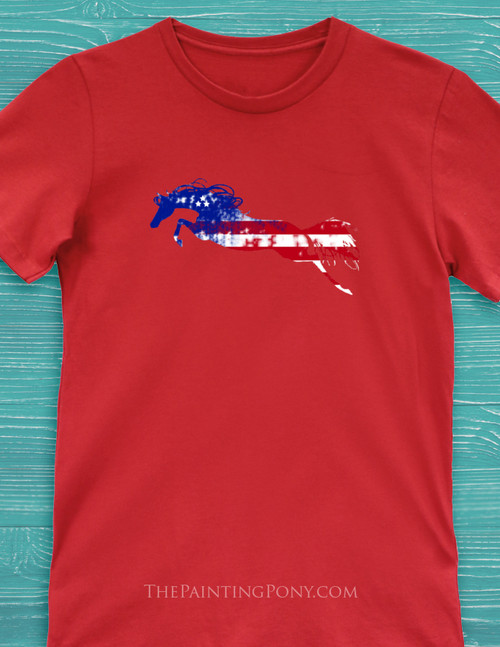 Liberty Horse Equestrian T-Shirt