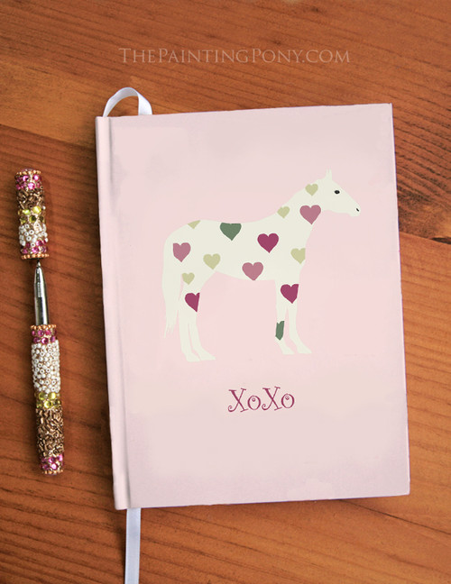 Heart Horse Hugs and Kisses Equestrian Hardbound Journal