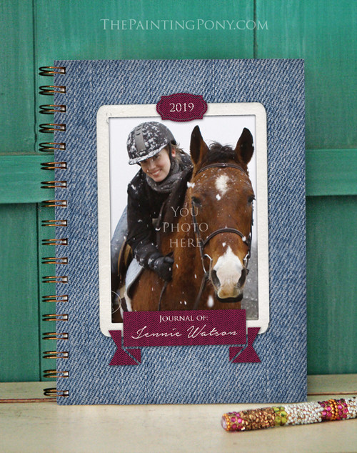 Personalized Horse Photo Bullet Journal