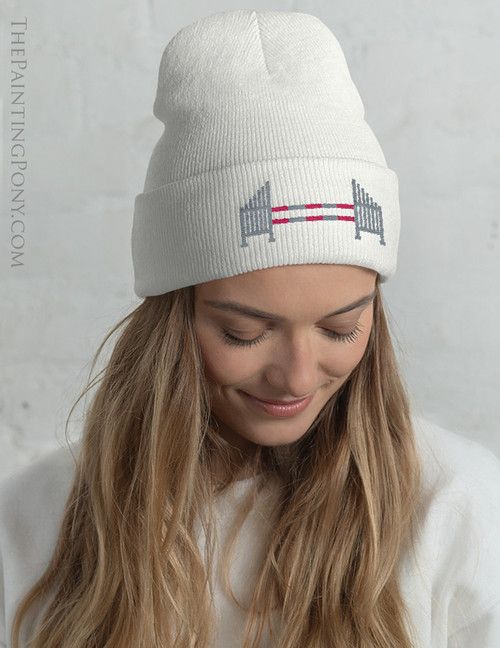 Horse Jump Embroidered Beanie Hat