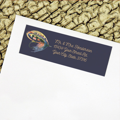 Classic Salmon Fly Return Address Labels
