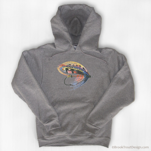 Classic Salmon Fly Hoodie