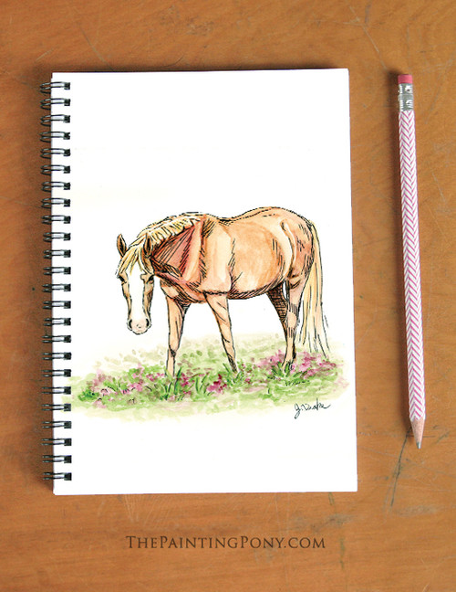 Chestnut Pony Spiral Notebook