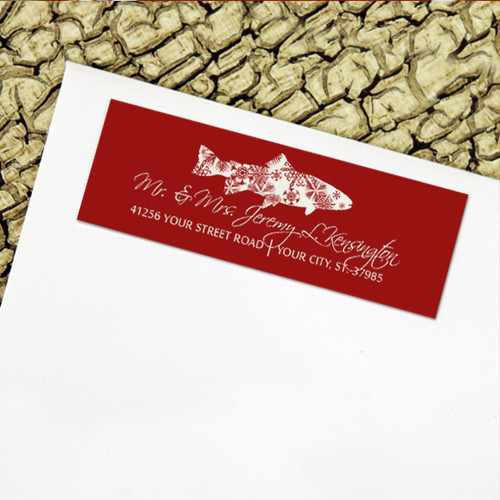 Snowflake Trout Return Address Labels