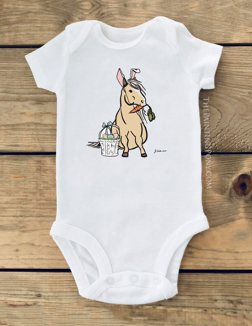 Easter Pony Baby Creeper