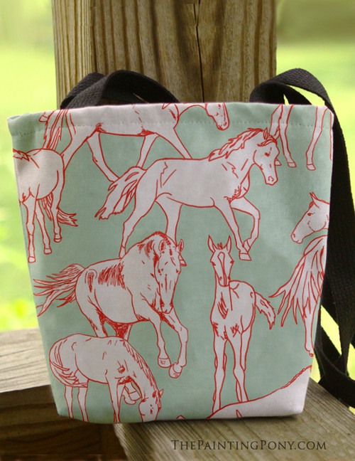 Horses All Over Equestrian Tote Bag
