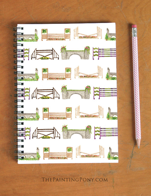 Horse Jumps Spiral Notebook