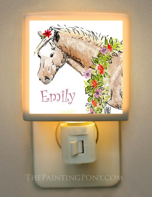 Personalized Pony Night Light