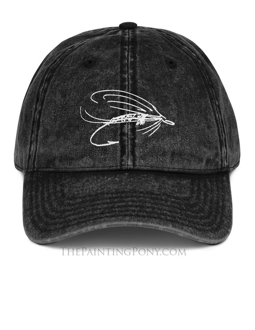 Fly Fishing Lure Emroidered Dad Hat