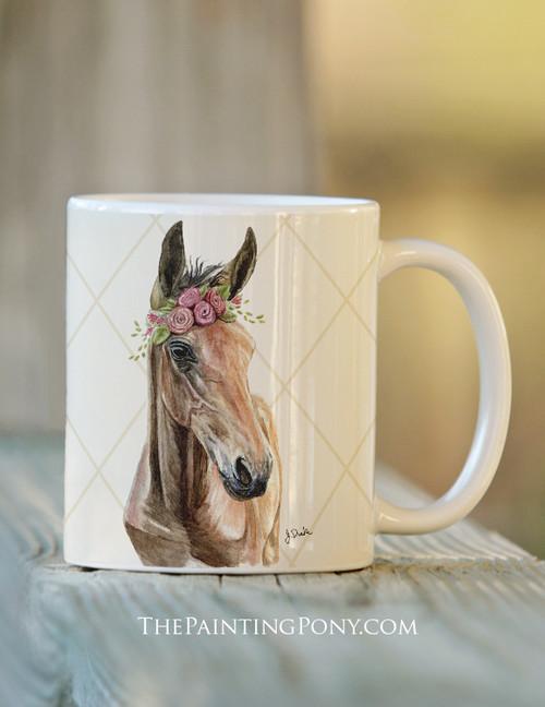 Bohemian Horse Head Equestrian Coffee Mug