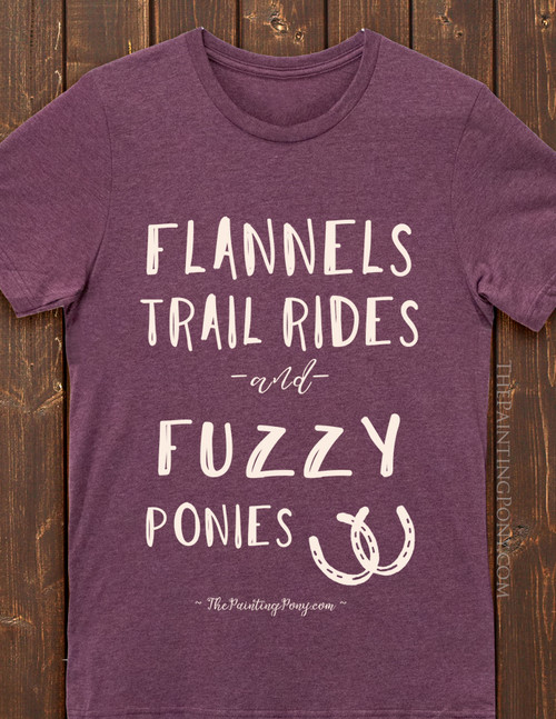 Flannels and Fuzzy Ponies Fall Horse Lover T-Shirt