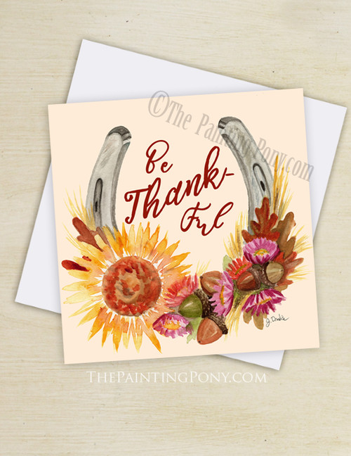 Be Thankful Equestrian Greeting Cards (10 pk)